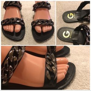 G by Guess slip on sandals size 7
